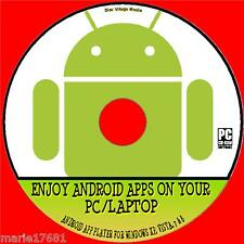 ANDROID APPS ON YOUR WINDOWS PC / LAPTOP SUPERB ANDROID APP PLAYER SYSTEM CD NEW