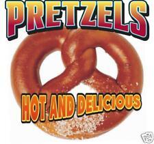 "Pretzel Fast Food Concession Stand Vinyl Sign Decal 12"""