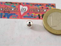2 PALLINE IN ARGENTO 925 DI MM 6 IL FORO HA UN DIAMETRO DI 1 MM MADE IN ITALY