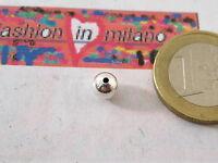 2 PALLINE IN ARGENTO 925 DI MM 6 IL FORO HA UN DIAMETRO DI 1 MM MADE IN ITALY