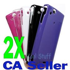 New 2X Polycarbonate Hard Case Sony Ericsson XPERIA Arc X12