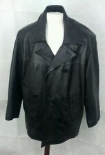 "Vali Leatherwear black Leather Jacket. 23"" pit-to-pit, 33"" length, Large"