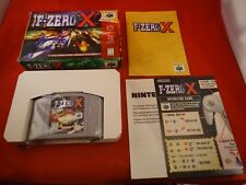 F-Zero X (Nintendo 64, 1998) N64 COMPLETE Box manual game WORKS! Fzero Fzerox