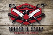 Barber SHOP metallo segno BARBIERE ARREDAMENTO sign Wall Art Placche Barber Shop 1030