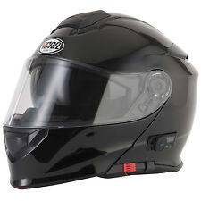 2016 VCAN V271 Blinc 5 Bluetooth Flip Front up Motorcycle Helmet FM Radio Gloss Black XL