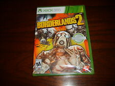 NEW~BORDERLANDS 2(Microsoft XBOX 360,2012,Rated M)~Cop-Op & Single Player~SEALED