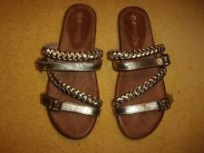Patrizia BY SPRING STEP GOLD SANDALS WOMEN'S SIZE 9