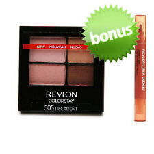 REVLON COLORSTAY 16 HR EYESHADOW QUAD + FREE JUST BITTEN LIPSTAIN 505 DECADENT