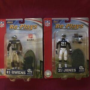 NFL Replays figures Dallas Cowboys  lot of 2  T.O. and Julius jones new in box