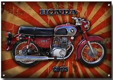 HONDA CLASSIC CD 175 MOTO metallo segno,1970, Retrò, HIGH GLOSS FINISH.