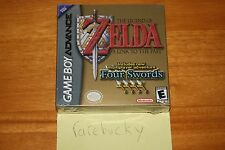 Legend of Zelda A Link to the Past w/Four Swords (GBA) NEW SEALED NM FIRST PRINT