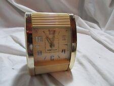 Vintage Westclox Model 42014 Roll Trip White Cream Wind-up Travel Alarm Clock