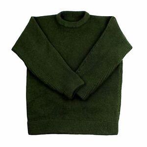 100% Austrian Wool Dachstein Woolwear Thick Boiled Wool Crew Sweater