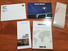 1989 1990 BMW ... MODELS 535i 525i ... OWNERS MANUAL ... EXCELLENT CONDITION
