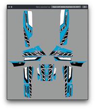 BANSHEE YAMAHA GRAPHIC KIT STICKERS GRAPHIC KIT DECAL PEGATINAS 350 BANSHEE