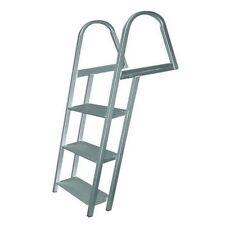 JIF Aluminum Dock Ladder w/ Mounting Hardware - 5 Steps