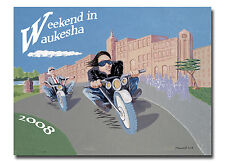 Harley Davidson 105th weekend in Waukesha poster Party litho open edition