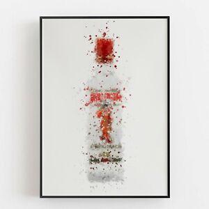 P0041 | Gin Bottle | Wall Art Print | Poster | Liquor | Bar | Pub | Restaurant