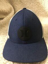 Hurley Denim Blue And Gray Baseball Cap Small/medium