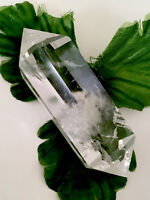 56g DAZZLING! Double-Terminated Clear Quartz Crystal Healing Wand  SPAIN  Reiki