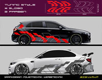 Tuning Style Camouflage Seitenstreifen Autoaufkleber - 2-farbig - #5_090 -2