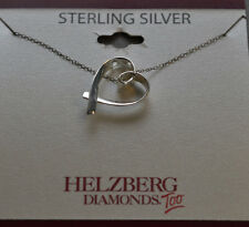 Sterling Silver  Open Heart Pendant - Necklace