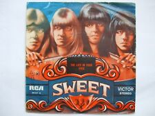 THE SWEET - THE LIES IN YOUR EYES /COCKROACH 45/7 SINGLE 1976 PORTUGAL GLAM ROCK