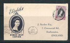 SINGAPORE 1953 CORONATION issue on FDC mailed to SOUTHAMPTON UK POSB cancel