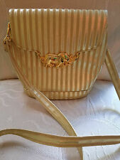 Vintage Purse TANGO BAG Gold Striped ~ FABULOUS Gold Elephant Clasp - EUC!!