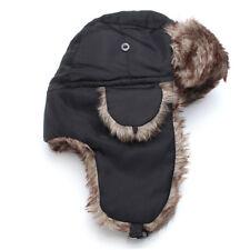 Adult Men Winter Trapper Aviator Trooper Earflap Warm Russian Ski Hat Fur Bomber