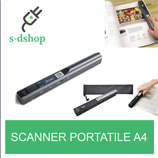 SCANNER PORTATILE A4 SENZA FILI 900 DPI  SCAN USB LCD MICRO SD PC NOTEBOOK