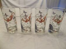 DISNEY WINNIE THE POOH TALL WATER GLASSES SET OF 4 DISNEY CATALOG NEW RETIRED