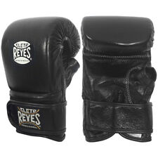 Cleto Reyes Leather Boxing Bag Gloves with Hook and Loop Closure - Black