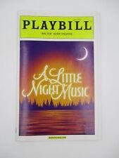 A LITTLE NIGHT MUSIC PLAYBILL 2010 w/ TICKET STUB CATHERINE ZETA-JONES