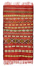 Moroccan Vintage Kilim Rug Pure Wool Carpet Kelim 180x100cm 6ftx3.3 ft. (Ref. A)