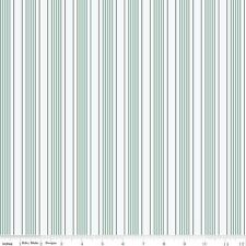 by The Sea Aqua & White Stripe Riley Blake Fabric FQ or More 100 Cotton Craft