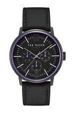 Ted Baker London Men's Jason Multifunction Leather Strap Watch 42mm TE50653004