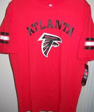 ATLANTA FALCONS KIDS YOUTH X-LARGE SIZE 18 RED TEE-SHIRT WITH STRIPES ON SLEEVES