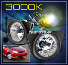 2003 2004 2005 TOYOTA ECHO BUMPER DRIVING FOG LIGHTS LAMP CHROME W/3K HID+SWITCH