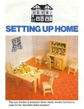 DOLLS' HOUSE KITCHEN FURNITURE PLANS & INSTRUCTIONS (ONLY) - NOT FINISHED ITEMS