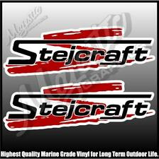 STEJCRAFT - 420mm X 140mm X 2 - BOAT DECALS