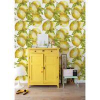 Lemon Non-Woven Wallpaper roll traditional Citron wall mural Fruits Home decor