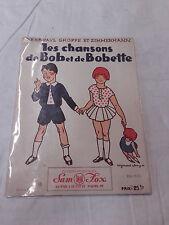 Partition Les chansons de Bob et Bobertte illustré par Raymond Erny 1930