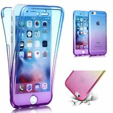 For iPhone 5s SE 360 degree Front and Back Full Body Gradient Gel Case Cover B/P