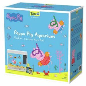 PeppaPig Aquarium 18 Ltr FULL Set up -Filter-gravel-water condition-food FREEP&P
