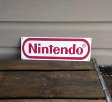 "Nintendo Metal Sign Game Room Mancave Man Cave Logo 4x12"" 50131"
