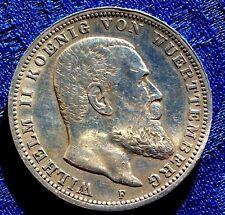 MONNAIE ANCIENNE EN  ARGENT 3 MARK  WILHELM II  KOENIG VON WUERTTEMBERG 1909 F