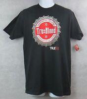 True Blood Mens T-Shirt Bottlecap New Black Officially Licensed