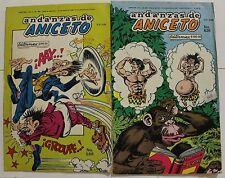 ANICETO MEXICAN COMIC, Andanzas de Aniceto como Hermelinda Linda lote de 2 MEMIN