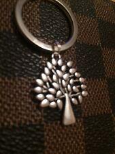 Silver Tone Mulberry Tree Charm Keyring Birthday/Xmas Gift. Secret Santa Gift.